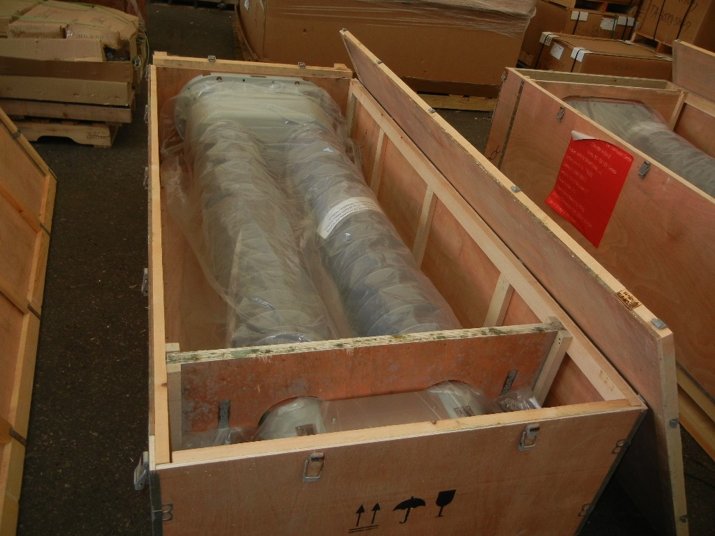 RHM transformer bushings packed for shipment