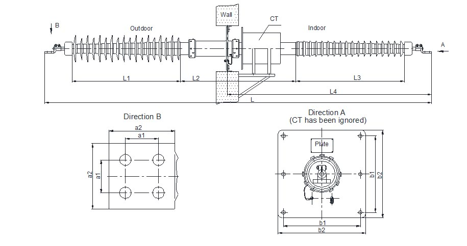 STB-L-Wall-Bushing-with-CT-drawing-3a