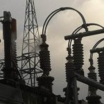 Transformer bushing fails due to internal fault