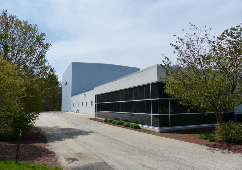 Exterior view of RHM International New England High Voltage Test Facility, in Hudson, NH, USA