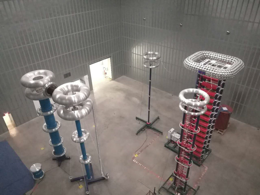 High Voltage AC Test Floor – 1000 kV AC Series Resonant Test Set and 2800 kV Impulse Test Set - RHM High Voltage Testing Facility Hudson NH