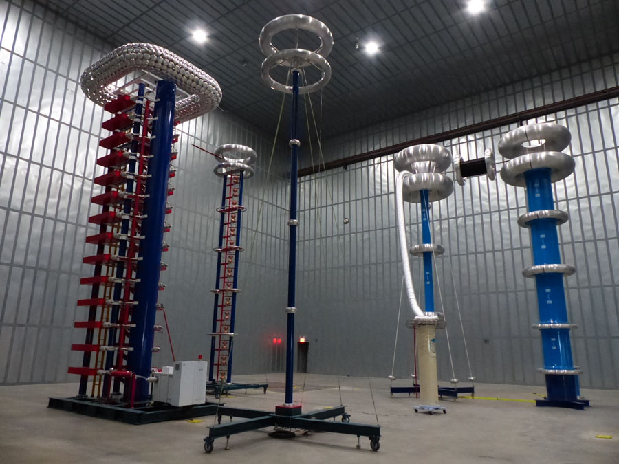 1000 kV AC Series Resonant Test Set and 2800 kV Impulse Test Set - RHM High Voltage Testing Hudson NH