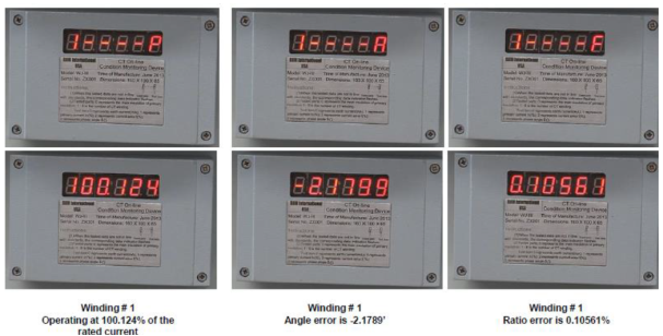 Smart HV DryShield® CT Examples of Monitor Display Data