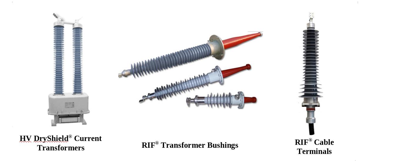 RHM high voltage transformer bushings