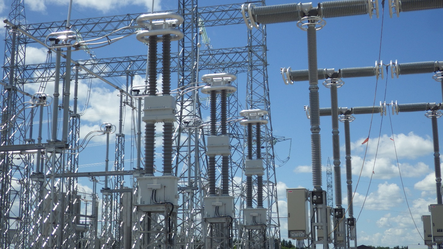 600 kV AC Dry Type LRGBJ-ZH-600 CTs at the Dorsey Converter Station (